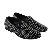 Steve Madden Capitil Mens Black Leather Casual Dress Slip On Loafers Shoes