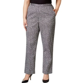 Alfred Dunner Womens Plus Dress Pants Oxford Printed - 18W