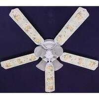 Classic Green Winnie the Pooh Print Blades 52in Ceiling Fan Light Kit - Multi