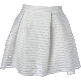 Aqua Womens Flare Skirt Mesh Neoprene