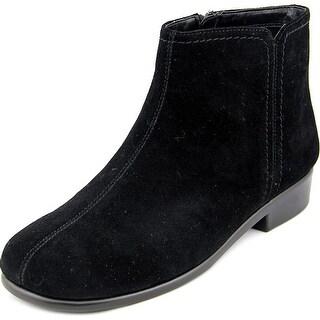 Aerosoles Duble Trouble Women  Round Toe Leather Black Ankle Boot