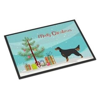 Carolines Treasures BB8436JMAT Gordon Setter Christmas Indoor or Outdoor Mat 24 x 36 in.