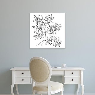 Easy Art Prints Jan Weiss's 'A Black and White Tree' Premium Canvas Art