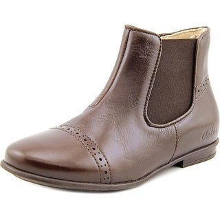 Aster Darjeeling Youth Round Toe Leather Brown Ankle Boot