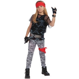 Forum Novelties 80s Rock Star Boy Child Costume (Large) - Black - Large