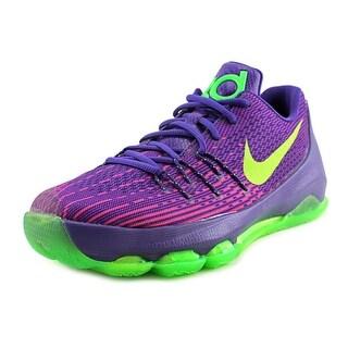 Nike KD 8 Youth EW Round Toe Leather Purple Basketball Shoe