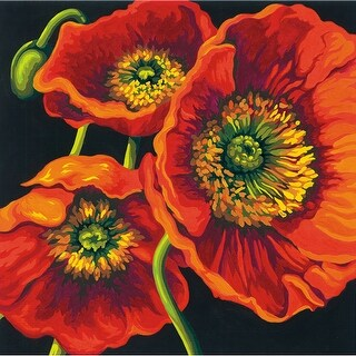 """Paint Works Paint By Number Kit 11""""X11""""-Red Poppy Trio"""