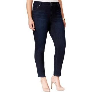 Lucky Brand Womens Plus Denim Leggings Curvy Fit Skinny