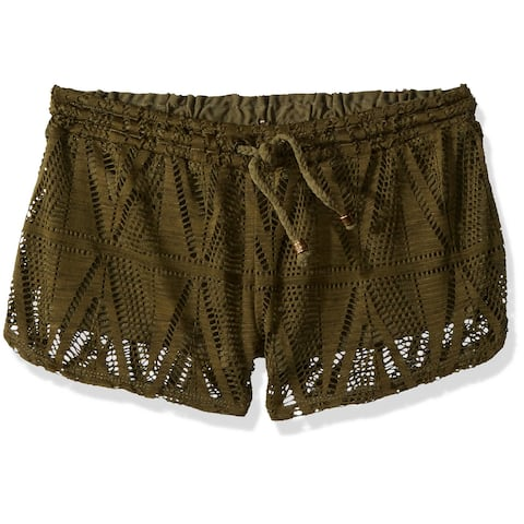prAna Womens Cargo Dark Green Size Medium M Lace Drawstring Shorts