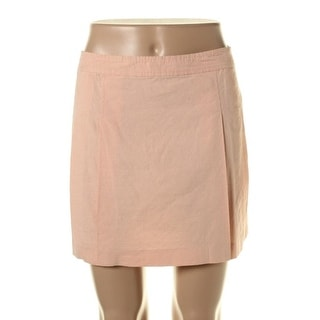 Theory Womens Vince Linen Pleated A-Line Skirt - 10