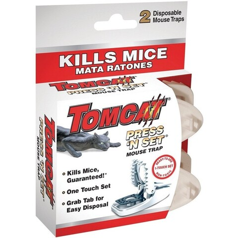 Tomcat 0360710 Press 'N Set Mouse Trap, 2/Pack