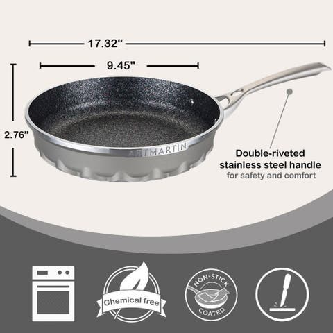 Non-Stick Ceramic Coated Die-Cast Aluminum Round Frying Pan with Induction Bottom