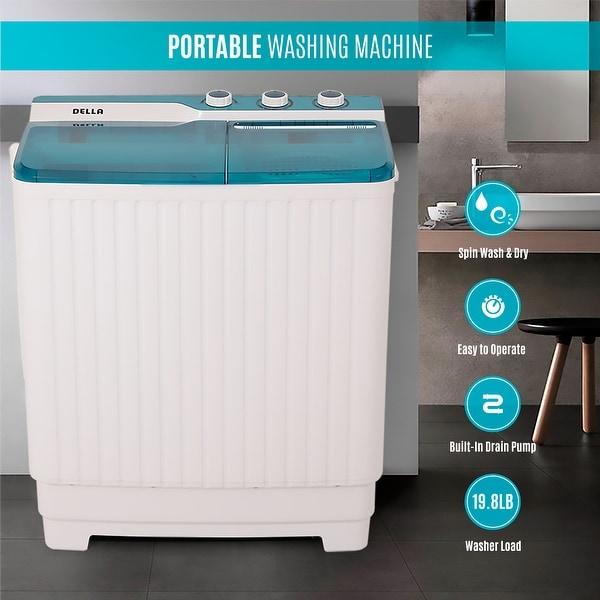 Shop Della Portable Mini Compact Twin Tub Washing Machine