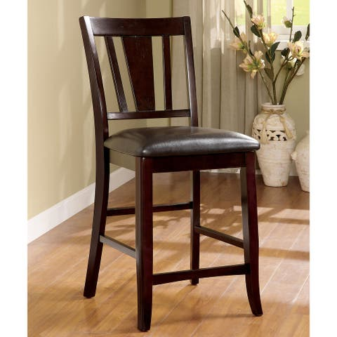 Furniture of America Betsy Transitional Espresso Counter Chair Set of 2