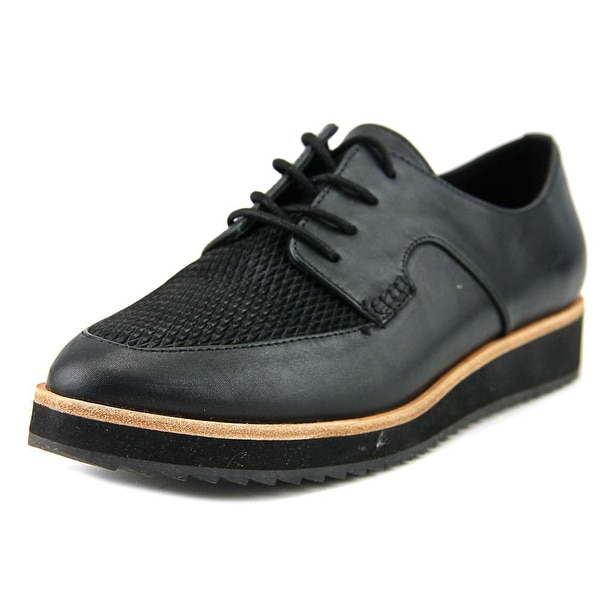 Aldo Clarilda Women Round Toe Leather Black Oxford