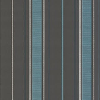 Brewster DL30486 Gavin Aqua Stripe Wallpaper