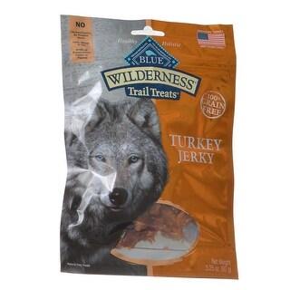 Blue Buffalo Wilderness Trail Treats for Dogs Turkey Jerky 3.25 oz