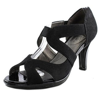 Life Stride Valuable Women Open Toe Synthetic Black Sandals