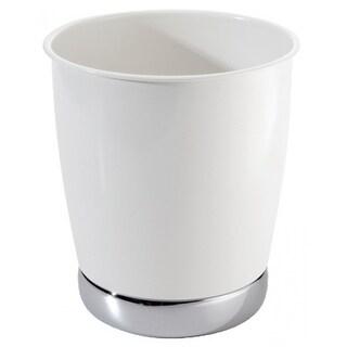 InterDesign 74721 York Bathroom Can, White/Chrome