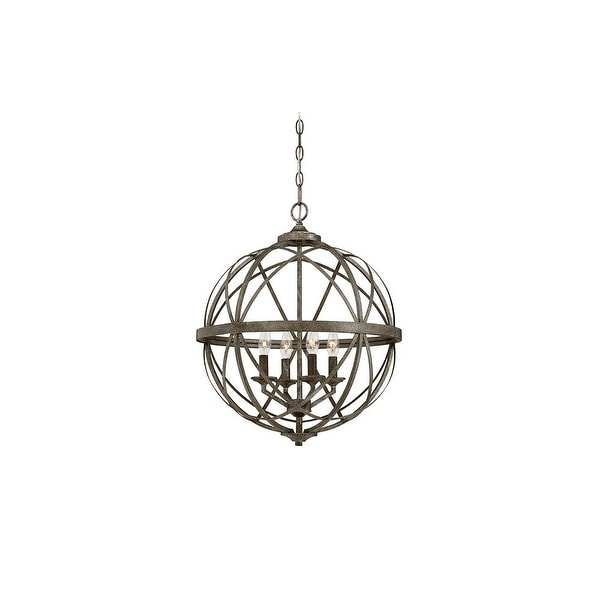 "Millennium Lighting 2284 Lakewood 4-Light 20"" Wide Foyer Pendant with Cage Frame - n/a"