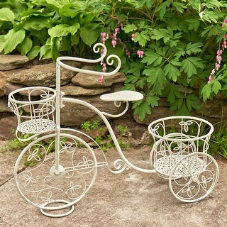 Vintage Style Tricycle Planter with Two Flower Baskets