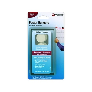 Velcro Removable Poster Hanger .25lb 36pc Wht