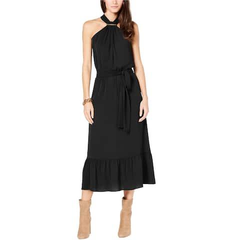 Michael Kors Womens Logo Bar Blouson Dress