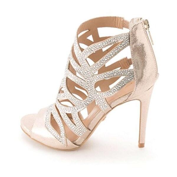 Thalia Sodi Womens Serena Open Toe Ankle Strap D-orsay Pumps