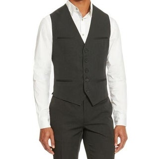 Kenneth Cole Reaction NEW Black Mens Size Small S Pinstripe Dress Vest