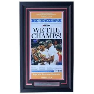 Toronto Raptors NBA Champs Framed 6 14 19 Toronto Star Newspaper Photo Cover