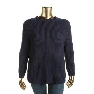 Lauren Ralph Lauren Womens Pullover Sweater Ribbed Textured - 1x