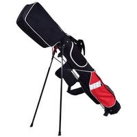 5'' Sunday Golf Bag Stand 7 Clubs Carry Pockets Travel Storage Lightweight