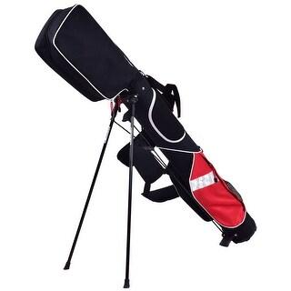 5'' Sunday Golf Bag Stand 7 Clubs Carry Pockets Travel Storage Lightweight