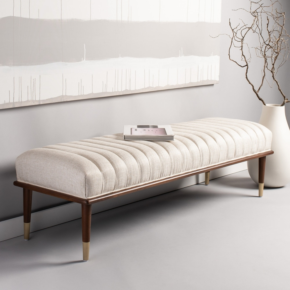 SAFAVIEH Couture Flannery Mid-Century Bench