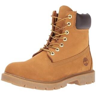 "Timberland Men's 6"" Basic Boot-Contrast Collar, Wheat Nubuck, 9 M Us"