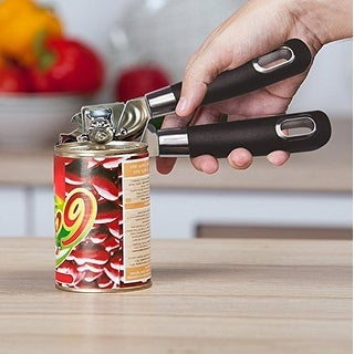 VECELO Multifunctional Tin/Can Opener Manual (Black)