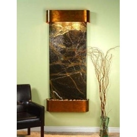 Adagio Inspiration Falls With Green Rainforest Marble in Rustic Copper Finish an