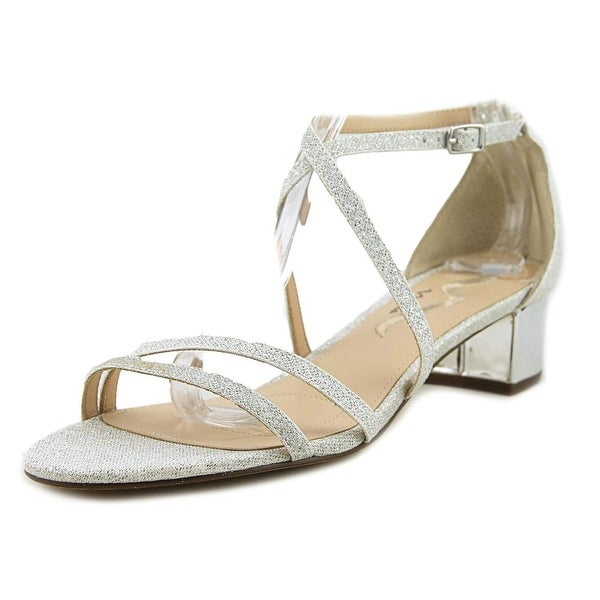 Nina Glory Women Open Toe Synthetic Silver Sandals