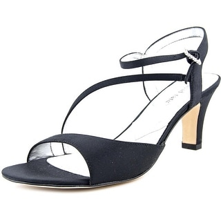 David Tate Bling Women N/S Open Toe Canvas Black Sandals