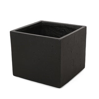 Link to Ella Outdoor Modern Cast Stone Square Planter by Christopher Knight Home Similar Items in Planters, Hangers & Stands