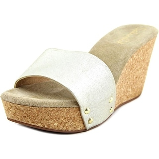 Splendid Eurydice Women Open Toe Synthetic Gold Slides Sandal