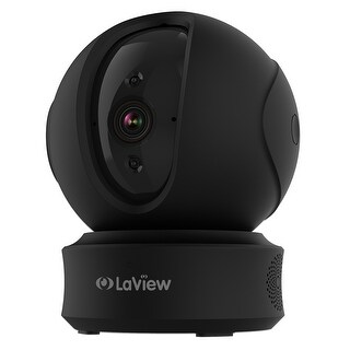 LaView ONE PT 1080P Wireless Indoor Surveillance Camera (Black)