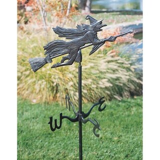 Design Toscano Halloween  Windblown Wicked Witch Metal Weathervane: Garden Stake
