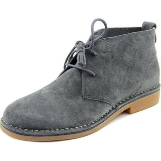 Hush Puppies Cyra Catelyn Women Round Toe Suede Gray Ankle Boot