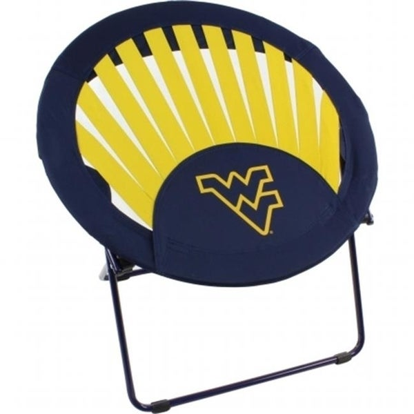 Shop College Covers WVARSC West Virginia Mountaineers NCAA Rising Sun Bungee  Chair   Free Shipping Today   Overstock   27693302