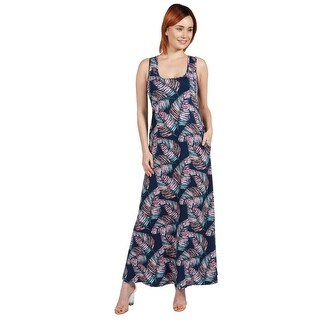 24seven Comfort Apparel Ellyn Sleeveless Long Dress
