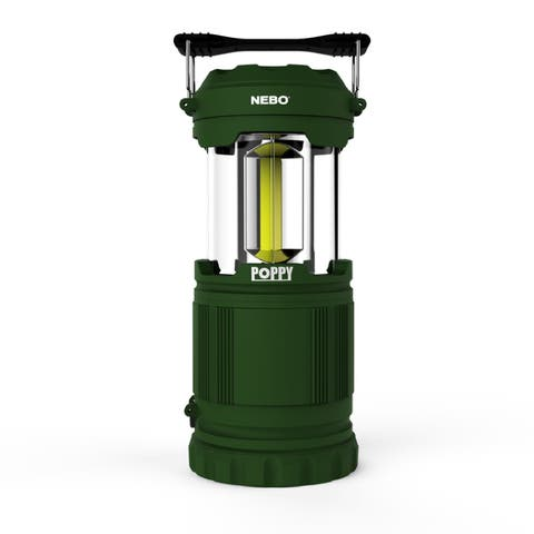 Nebo 6597 Poppy LED Spot Light Flashlight Pop-up Lantern, Green