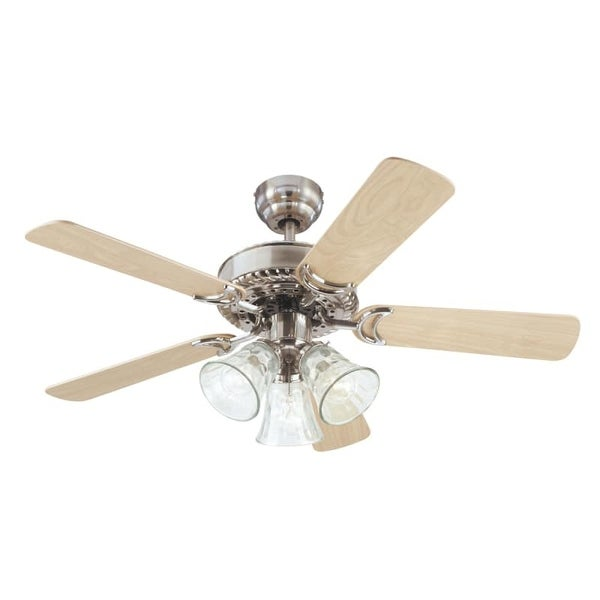"Westinghouse 7843565 Newtown 42"" 5 Blade Hanging Indoor Ceiling Fan with Reversible Motor, Blades, Light Kit, and Down Rod"