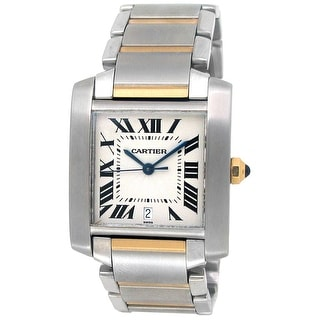 Pre-owned 30mm x 25mm Cartier Tank Francaise Watch - One Size