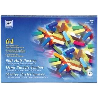 Soft Half Pastels 64/Pkg-Assorted Colors